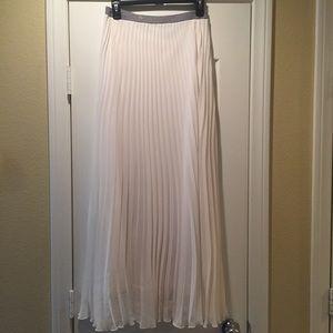 Allen B Long Pleated Maxi Skirt Size XS